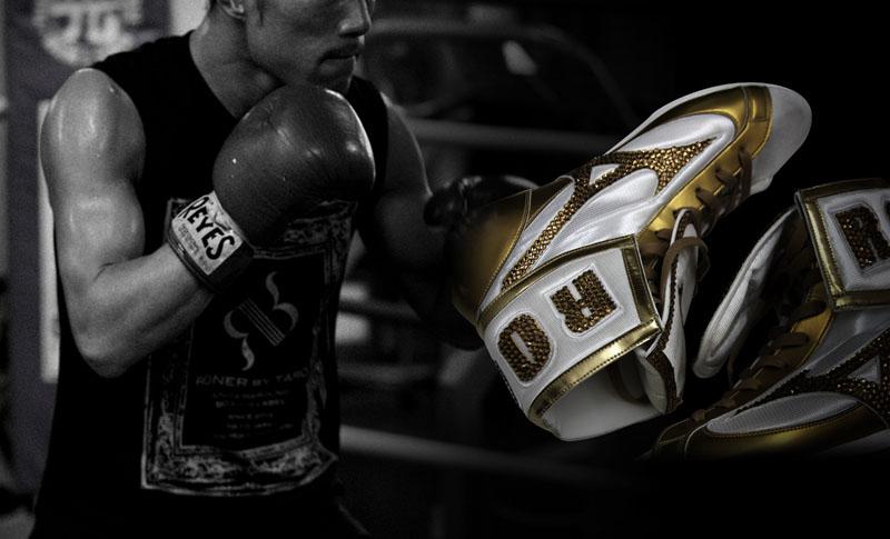 シューズカスタム RONER by taRo ボクシング衣装オーダー専門サイト ヘッダー画像
